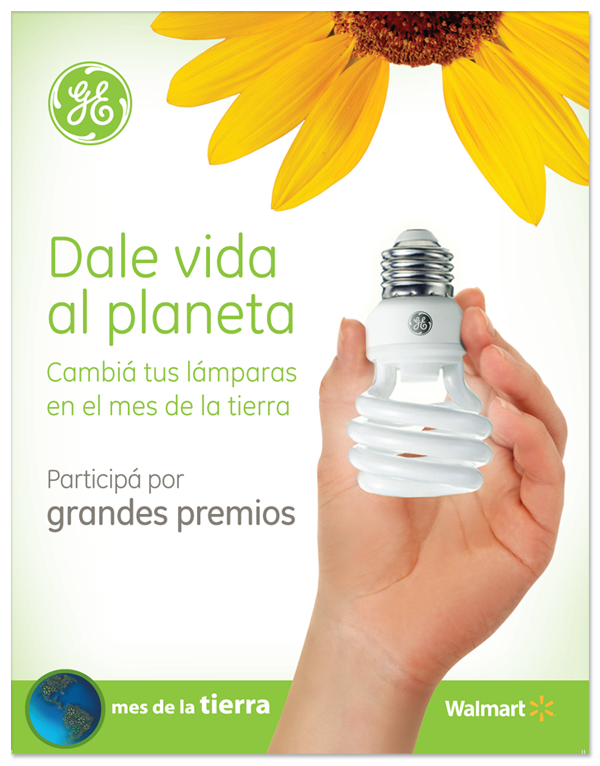 Give life to the Planet Earth Day promotion General Electric