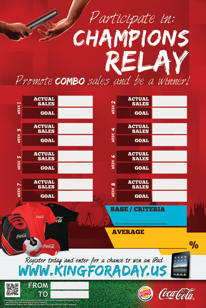 Coca Cola Poster Relay Race